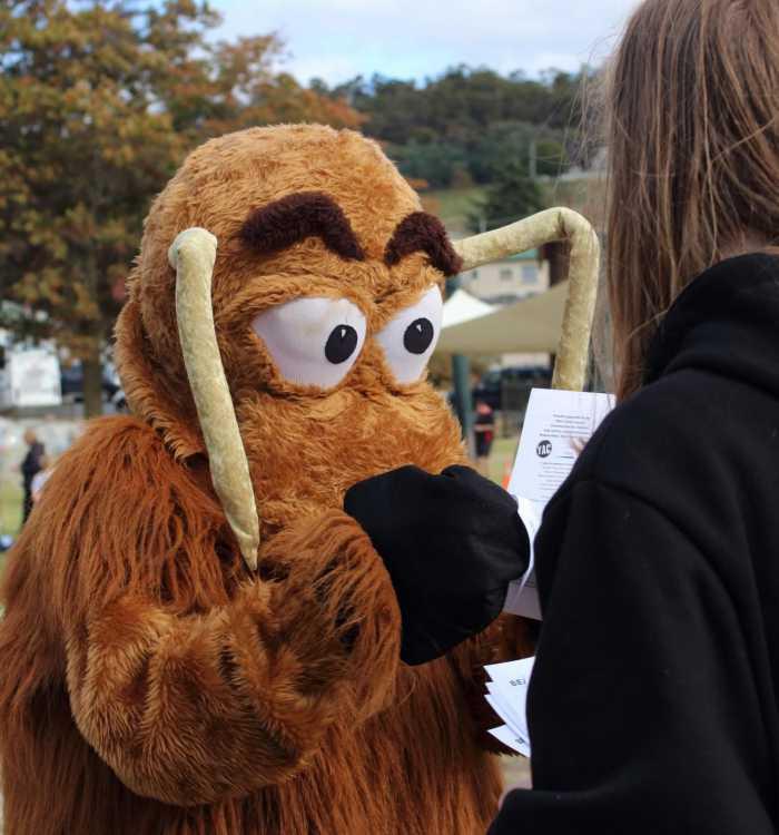 mascot with YAC
