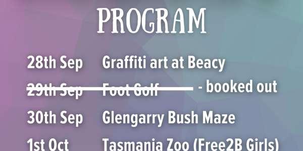Sep/Oct School Holiday Program