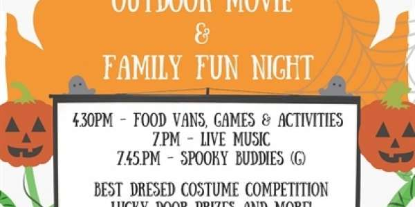 Halloween Outdoor Movie and Family Fun Night