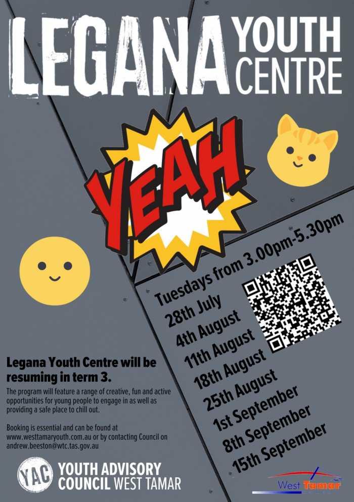 Legana Youth Centre term 3 2020
